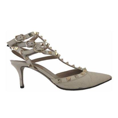 Image of Valentino rockstud heels nude