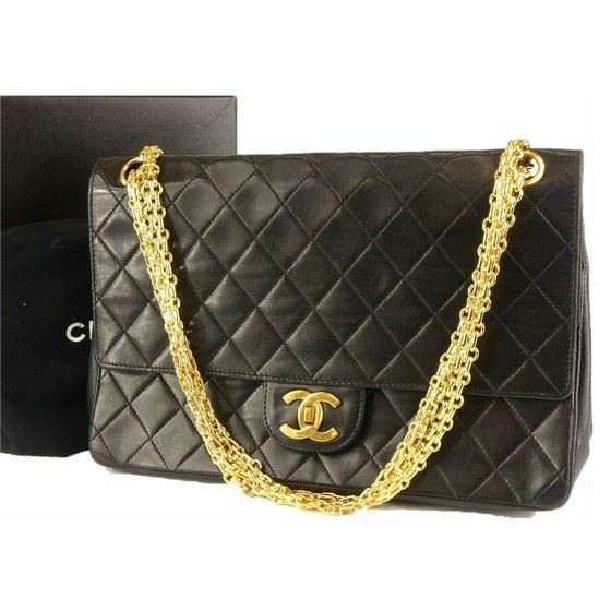 71321b5684d7 Picture of Chanel 2.55 medium double flap bag with mademoiselle chain