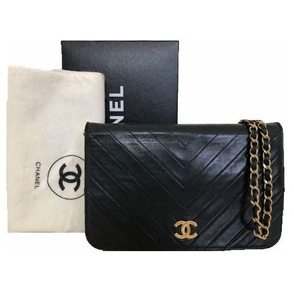 Image of Chanel chevron medium flap bag