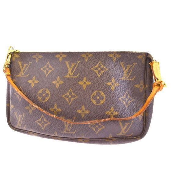 Picture of Louis Vuitton pochette accessoire monogram pouch handbag