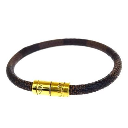Image of Louis Vuitton keep it damier gold bracelet