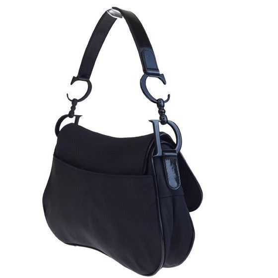 Picture of Christian Dior medium double saddle bag, all black