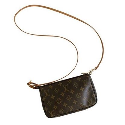 Image of Louis Vuitton pochette accessoire monogram pouch handbag