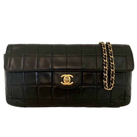 "Picture of Chanel black ""Chocolate bar"" bag"