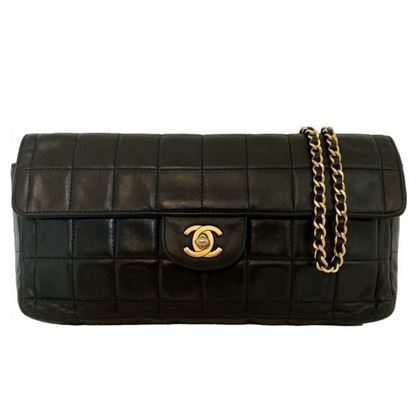 "Image of Chanel black ""Chocolate bar"" bag"