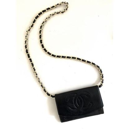 Image of Chanel wallet with chain