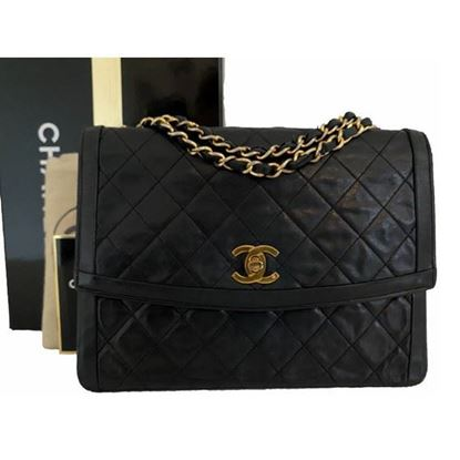 Image of Chanel classic timeless double chain bag